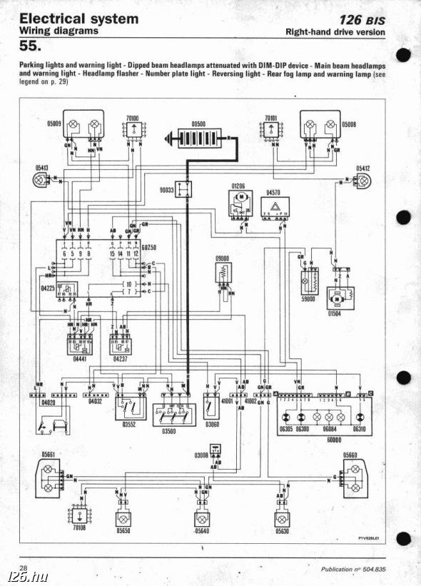 fiat 126 wiring diagram | fiat wirning diagrams, Wiring diagram